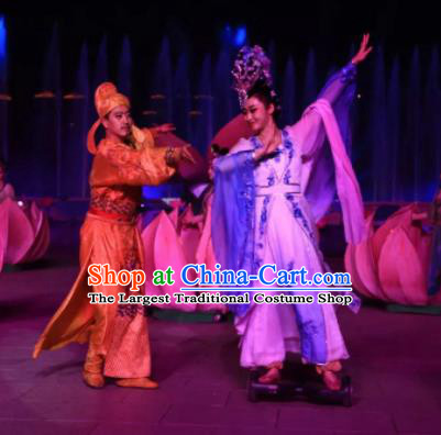 Chinese The Dream of Tang Dynasty Xuan Emperor and Consort Yang Stage Show Costumes for Women for Men