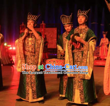 Chinese The Dream of Tang Dynasty Palace Eunuch Stage Performance Dance Costume for Men