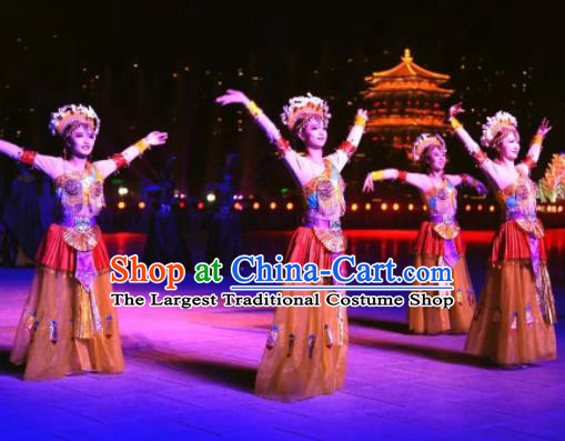 Chinese The Dream of Datang Tang Dynasty Court Dance Dress Stage Performance Costume for Women
