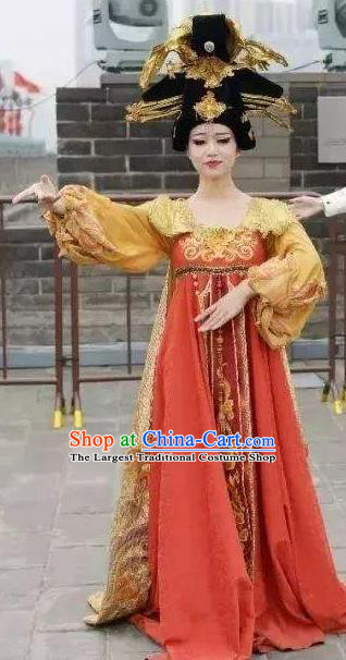 Chinese The Dream of Datang Tang Dynasty Court Feast Dance Dress Stage Performance Costume for Women