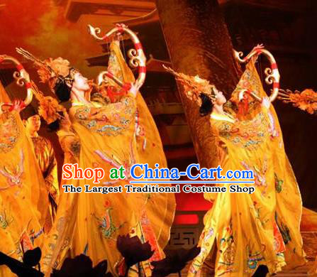 Chinese The Dream of Datang Tang Dynasty Palace Feast Dance Dress Stage Performance Costume for Women