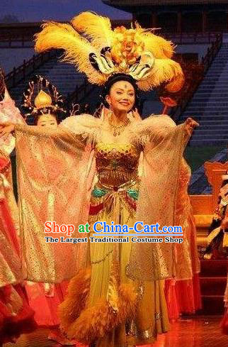 Chinese The Long Regret Tang Dynasty Court Dance Dress Stage Performance Costume for Women