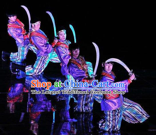 Chinese The Dream of Dongjing Song Dynasty Folk Dance Stage Performance Costume for Men