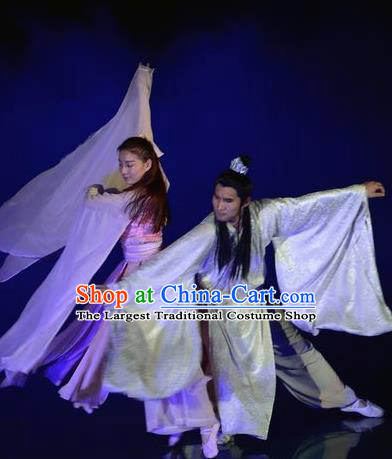 Chinese The Dream of Dongjing Song Dynasty Stage Performance Dance Costumes for Women for Men