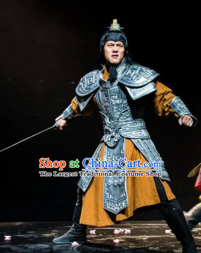 Chinese The Romantic Show of Tanhe Ancient General Stage Performance Dance Armor Costume for Men