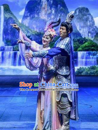 Chinese The Romantic Show of Guilin Stage Show Dance Armor Costumes for Women for Men