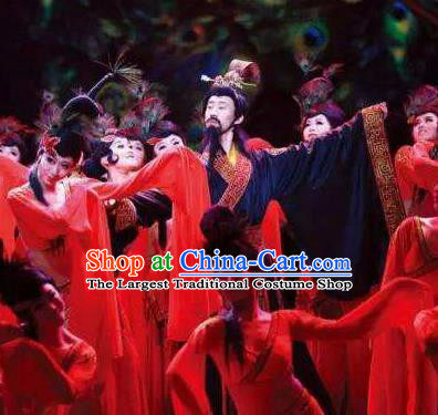 Chinese The Romantic Show of Tanhe Stage Performance Scholar Dance Costume for Men