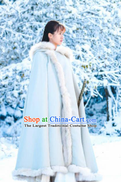 Ancient Chinese Drama Female Swordsman Mo Shanshan Cloak Ever Night Traditional Tang Dynasty Maidservant Costumes for Women