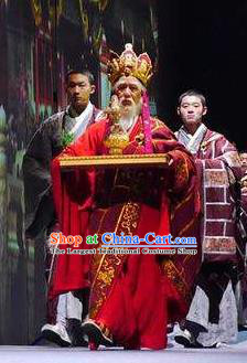 Chinese Dharma Legends in Famen Temple Ancient Tang Dynasty Monk Buddhist Abbot Stage Performance Costume for Men