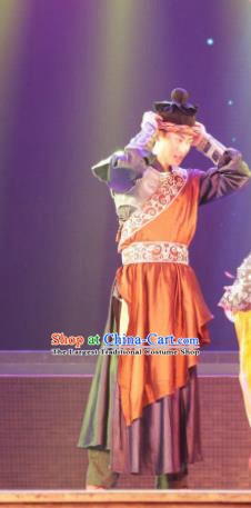 Chinese Back to Song Dynasty Young Hero Stage Performance Dance Costume for Men