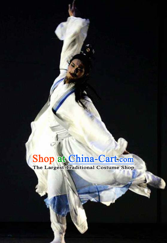Chinese River Theatre The Peach Colony Swordsman Stage Performance Dance Costume for Men