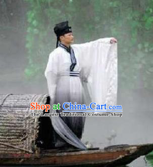 Chinese Road Solutions Dujiangyan Scholar Stage Performance Dance Costume for Men