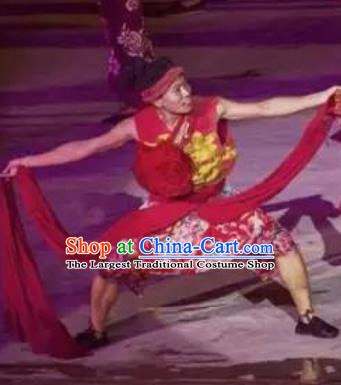 Chinese Sutras In The Golden Hill Folk Dance Stage Performance Wedding Costume for Men