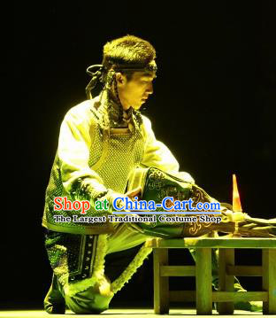 Chinese Impression of Going East To Native Land Mongol Nationality Hero Stage Performance Dance Costume for Men