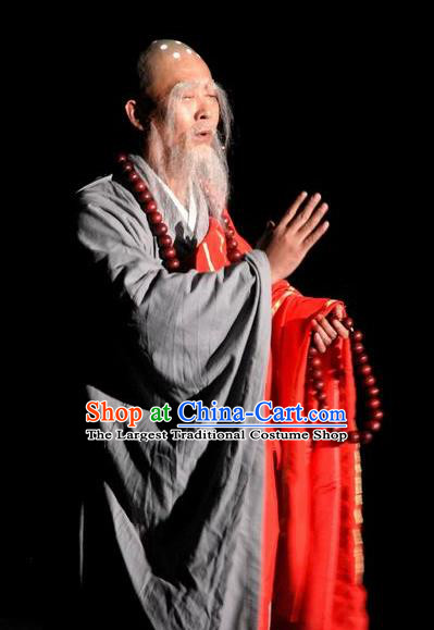 Chinese Buddha Pilgrimages Eastward Monk Abbot Stage Performance Costume for Men