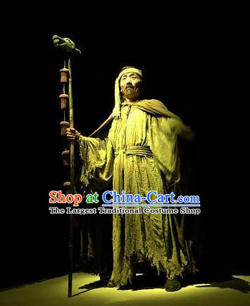 Chinese Encore Dunhuang Han Dynasty Envoy Clothing Stage Performance Dance Costume for Men