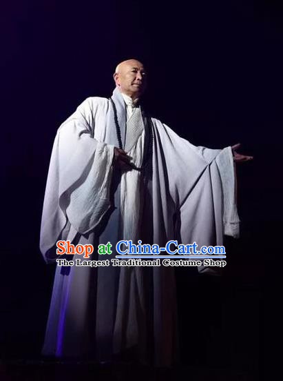 Chinese The Sixth Patriarch Huineng Monk Robe Stage Performance Costume for Men