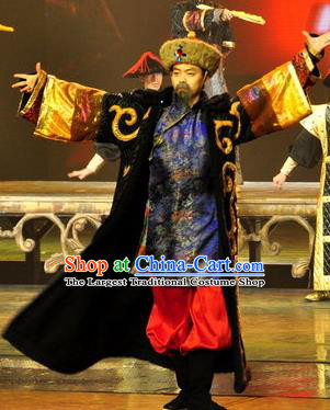 Chinese Picturesque Huizhou Ancient Royal Highness Clothing Stage Performance Dance Costume for Men