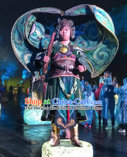 Chinese Dream Of Tao Ancient General Body Armor Stage Performance Dance Costume for Men