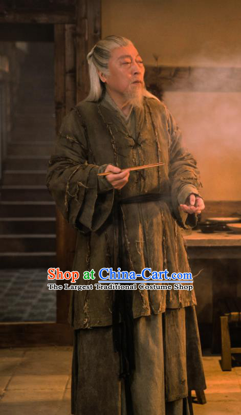 Ever Night Chinese Drama Ancient Tang Dynasty Old Civilian Swordsman Wei Guangming Costumes for Men