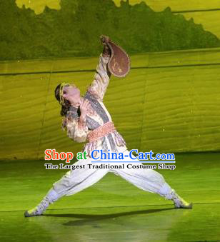 Chinese The Moon Rising On The Helan Mountain Hui Nationality Bridegroom Dance Clothing Stage Performance Costume for Men