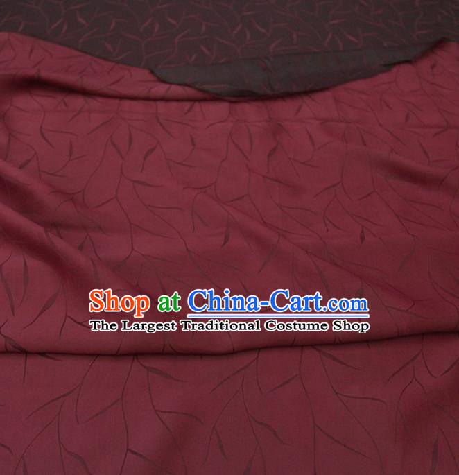 Traditional Chinese Classical Pattern Wine Red Gambiered Guangdong Gauze Silk Fabric Ancient Hanfu Dress Silk Cloth