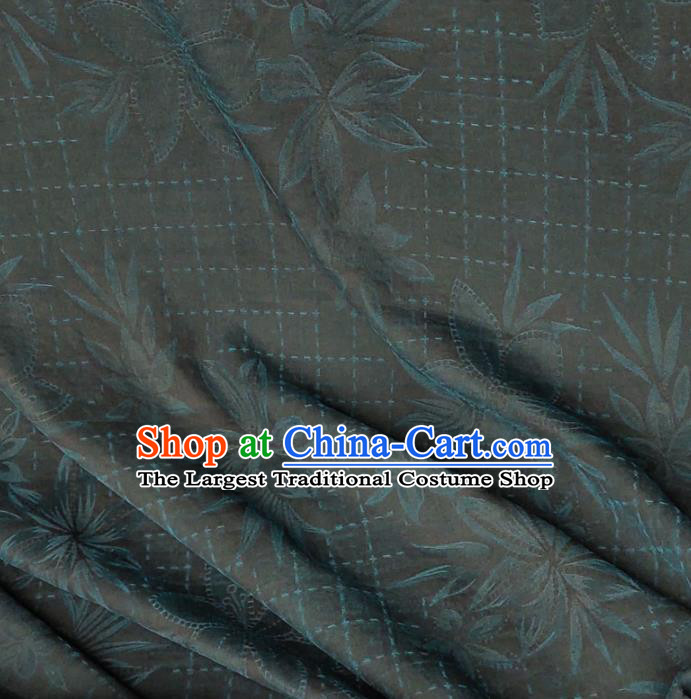 Traditional Chinese Classical Pattern Peacock Blue Gambiered Guangdong Gauze Silk Fabric Ancient Hanfu Dress Silk Cloth