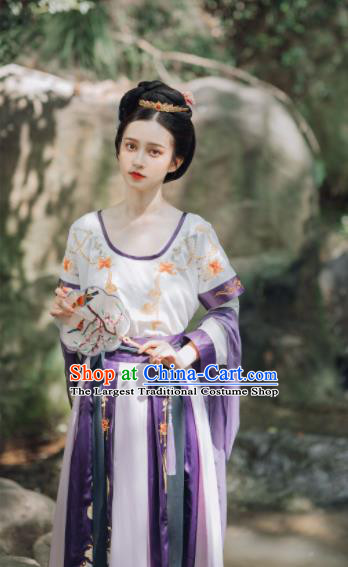 Traditional Chinese Tang Dynasty Court Lady Replica Costumes Ancient Royal Princess Hanfu Dress for Women