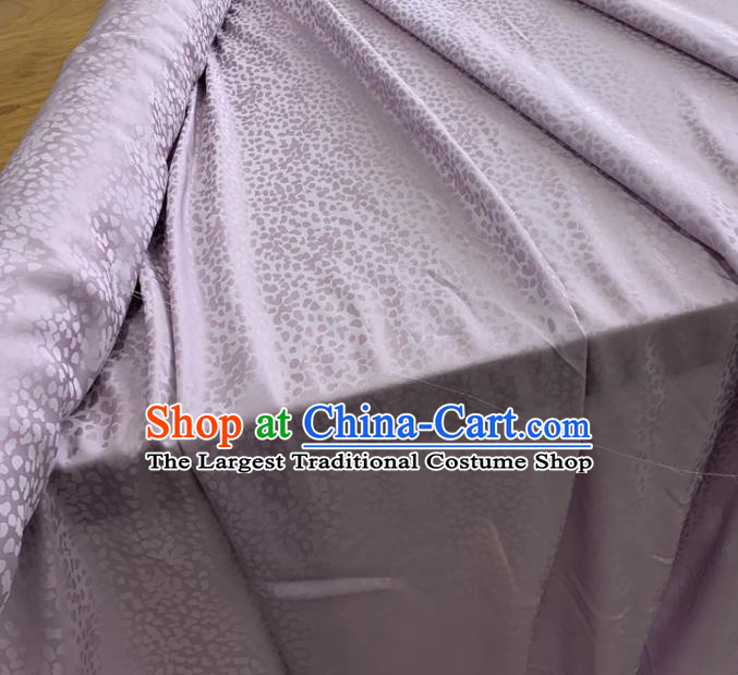 Chinese Classical Pattern Lilac Silk Fabric Traditional Ancient Hanfu Dress Brocade Cloth