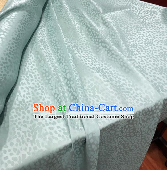 Chinese Classical Pattern Light Green Silk Fabric Traditional Ancient Hanfu Dress Brocade Cloth