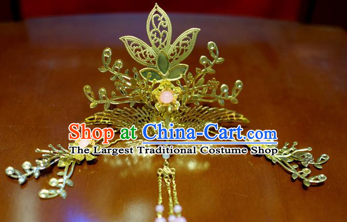 Chinese Traditional Ancient Court Queen Phoenix Hair Crown Hairpins Classical Hanfu Hair Accessories for Women
