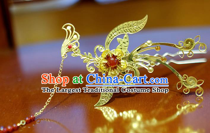 Chinese Traditional Ancient Court Queen Hairpins Phoenix Step Shake Classical Hanfu Hair Accessories for Women