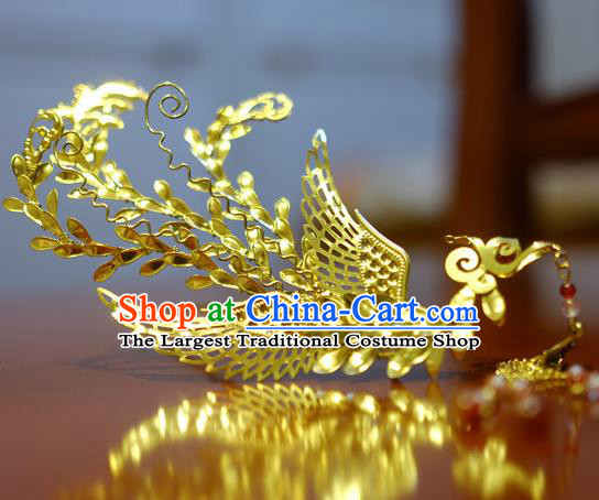 Chinese Traditional Ancient Court Queen Phoenix Hairpins Classical Hanfu Hair Accessories for Women