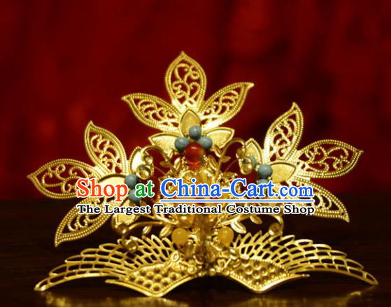 Chinese Ancient Court Queen Hair Crown Hairpins Traditional Classical Hanfu Hair Accessories for Women