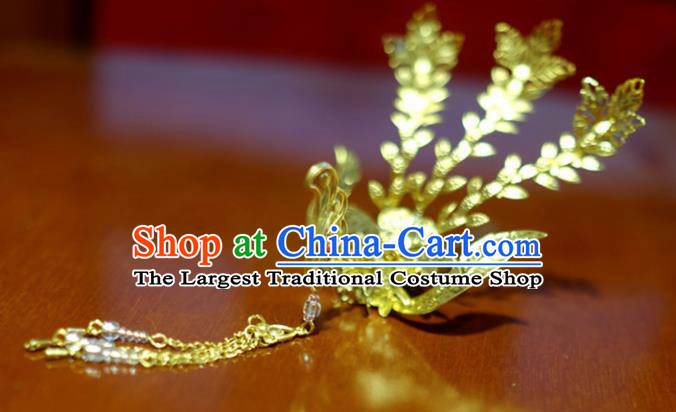 Chinese Traditional Ancient Court Queen Phoenix Tassel Hairpins Classical Hanfu Hair Accessories for Women