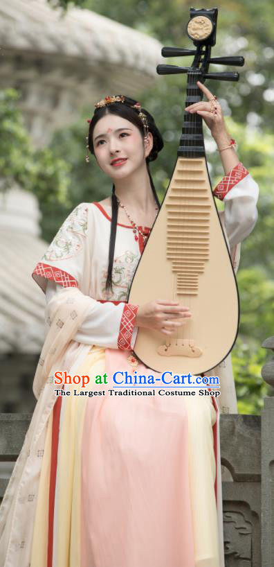 Traditional Chinese Tang Dynasty Court Princess Replica Costumes Ancient Dunhuang Flying Apsaras Dance Hanfu Dress for Women