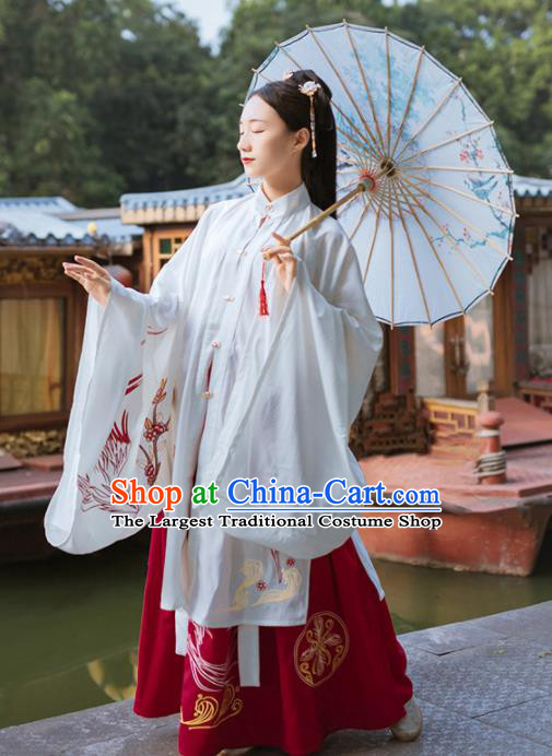 Traditional Chinese Ming Dynasty Palace Lady Replica Costumes Ancient Royal Princess Hanfu Dress for Women