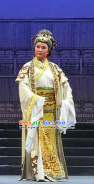 Traditional Chinese Henan Opera Seven Swords Costumes Old Countess Dress and Headwear for Women