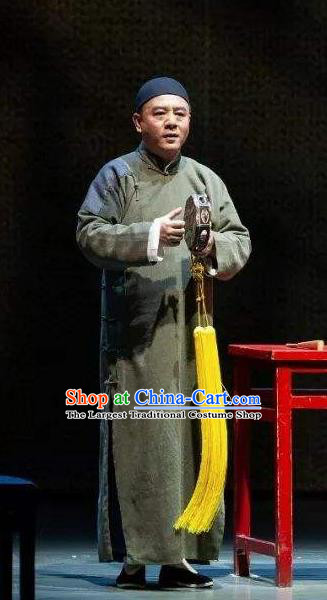 Traditional Chinese Drama Tian Ming Qing Dynasty Costumes and Headwear for Men