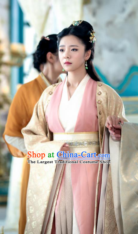 Ancient Chinese Princess Qin Su Hanfu Dress Drama The Untamed Female Swordsman Costumes for Women