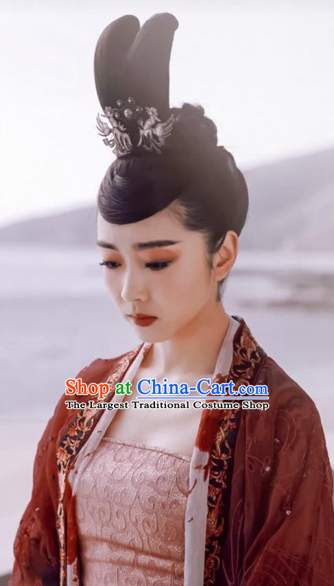Ancient Chinese Taoist Nun Jiang Yanli Wedding Hanfu Dress Drama The Untamed Female Swordsman Costumes and Headpiece for Women