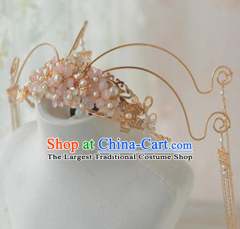 Traditional Chinese Tang Dynasty Wedding Phoenix Coronet Hairpins Ancient Princess Hanfu Hair Accessories for Women