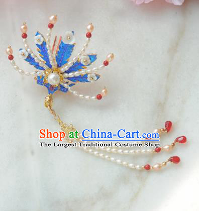 Traditional Chinese Classical Pearls Phoenix Hairpins Ancient Princess Hanfu Hair Accessories for Women