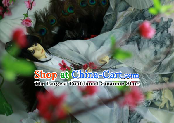 Traditional Chinese Cosplay Prince Swordsman White Clothing Ancient Nobility Childe Costume for Men