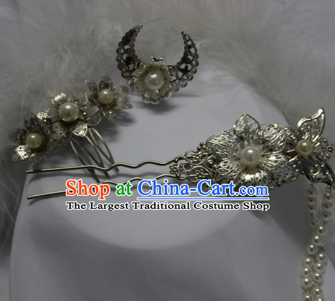 Traditional Chinese Cosplay Princess Hairpins Ancient Female Swordsman Hair Accessories for Women