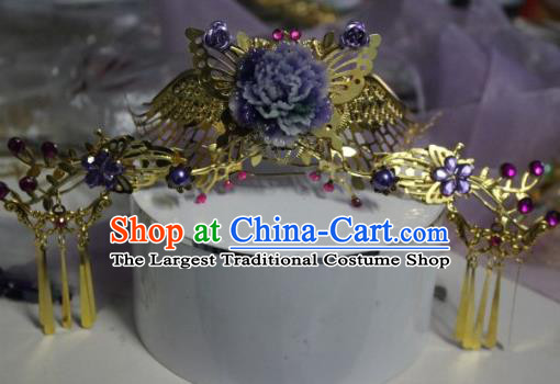 Traditional Chinese Cosplay Princess Hairpins Ancient Bride Phoenix Coronet Hair Accessories for Women