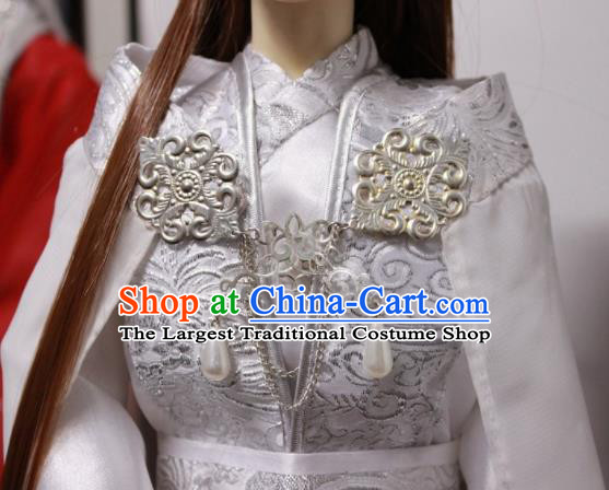 Traditional Chinese Cosplay Prince White Clothing Ancient Swordsman Nobility Childe Costume for Men