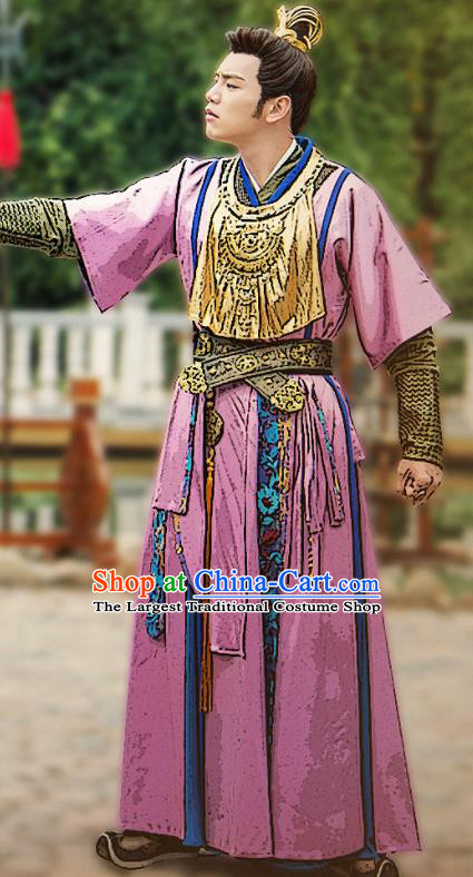 Ancient Chinese Song Dynasty Swordsman Wei Yanei Hanfu Clothing Drama Young Blood Nobility Childe Costumes for Men