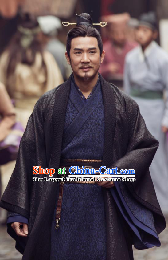 Ancient Chinese Song Dynasty Minister Hanfu Clothing Drama Young Blood Swordsman Costumes for Men