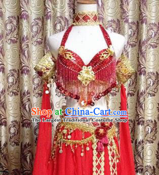 Chinese Tang Dynasty Classical Dance Red Dress Ancient Princess Peri Costume for Women